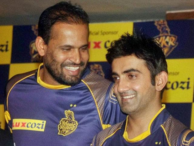 One  of the reasons for Gautam Gambhir's smile is Yusuf Pathan, who has fired on important occasions.