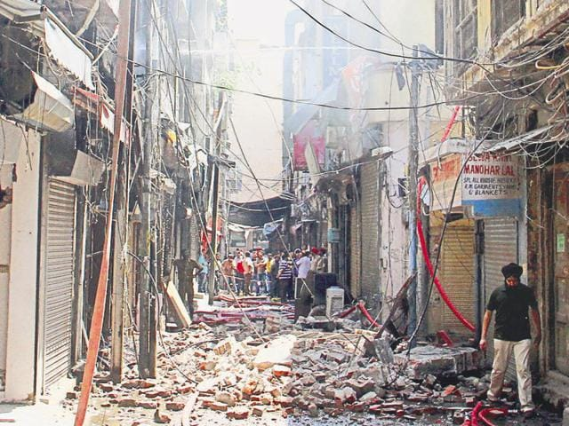 File photo of fire in Dal Bazaar.