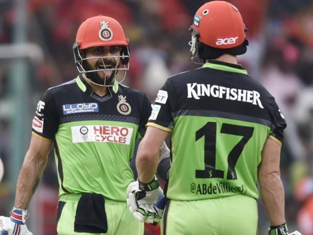 RCB  skipper Virat Kohli and AB de Villiers scored individual centuries against Gujarat Lions  in Bangalore on Saturday.