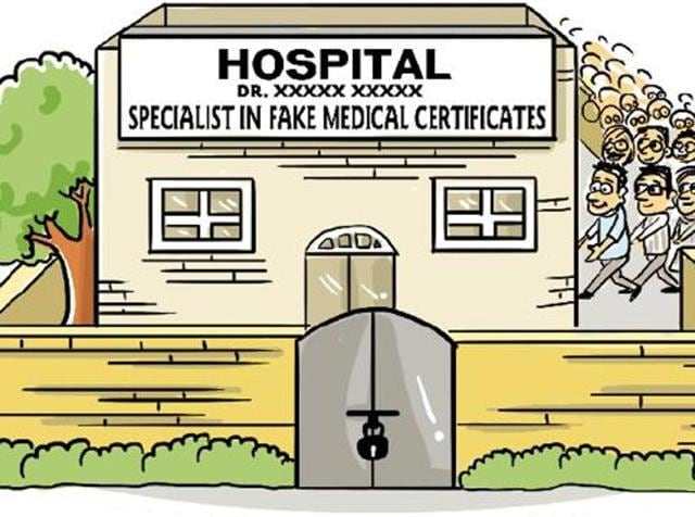 Dr R Gupta, who runs Gupta Ultrasound and X-Ray Lab in Sector 34, filed a complaint with the police saying that there had been misuse of his name and stamp in case of medical certificates.