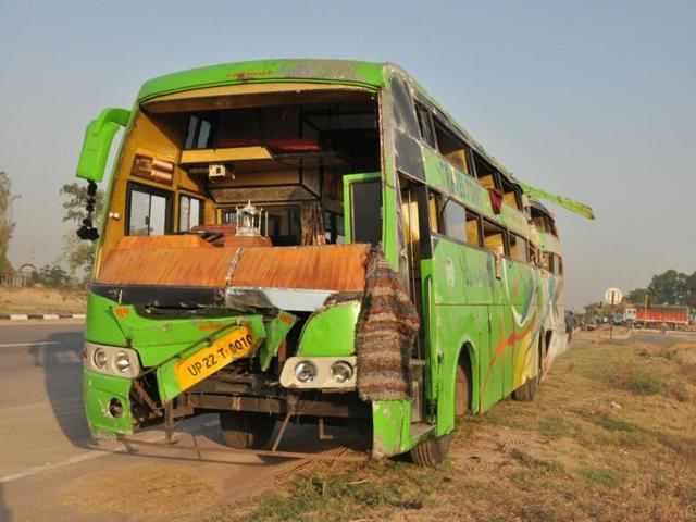 The bus was on its way to Delhi.