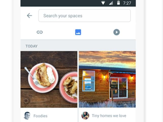 Google on Monday rolled out a Spaces application tailored to let users easily share content and commentary, group-messaging style, on any topics they wish.