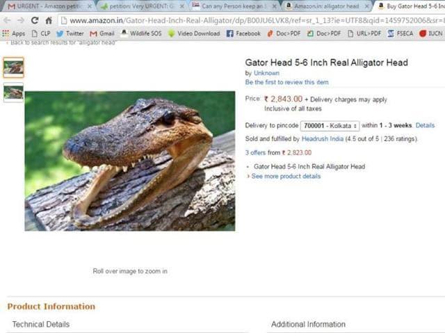 Amazon,Sale of animals,E commerce