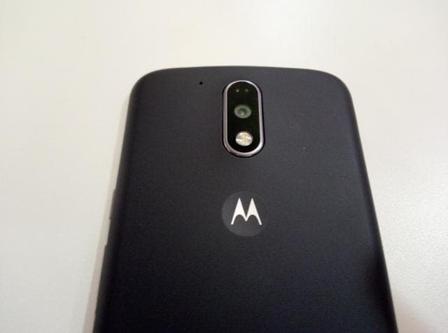 Moto G4 Plus has a fingerprint scanner under the screen and a better 16 MP camera on the back. The camera also supports PDAF for quicker focus and also has laser auto-focus in case you're in a low-light area.