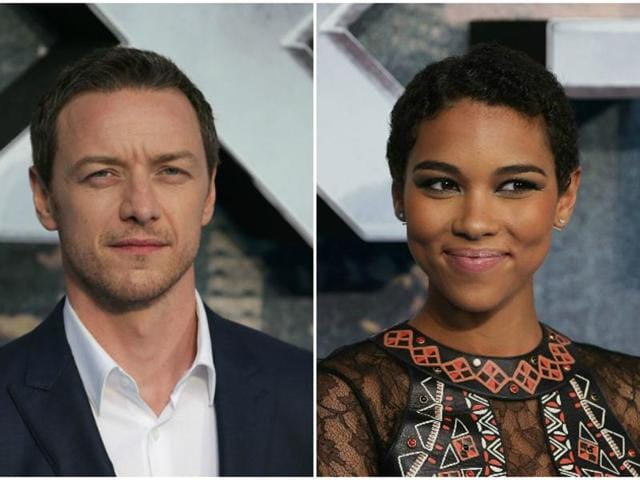 James McAvoy plays Professor Charles Xavier in the X-Men movies, and Alexandra Shipp will debut as Storm in the upcoming Apocalypse.
