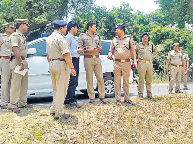 Senior police officials were in Azamgarh to review situation there on Monday.