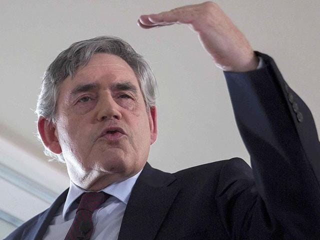File photo of Gordon Brown,  Britain's former Prime Minister.  Brown is the UN special envoy for global education.