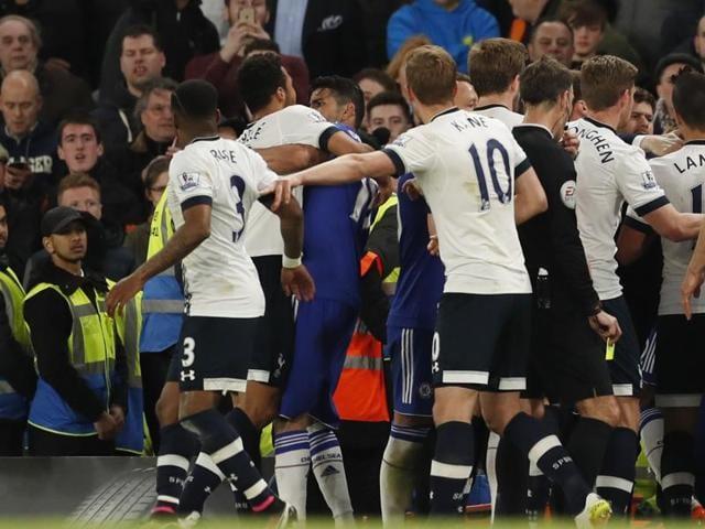 Tottenham midfielder Mousa Dembele was handed a six-match ban after gouging Chelsea striker Diego Costa's eye.