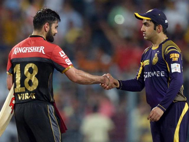 Both Gautam Gambhir and Virat Kohli  scored  half-centuries for their respective sides.