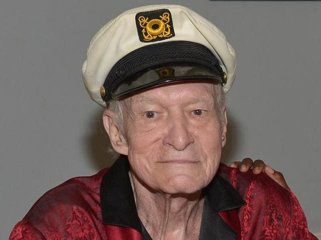 File photo of Playboy founder and editor-in-chief Hugh M Hefner.