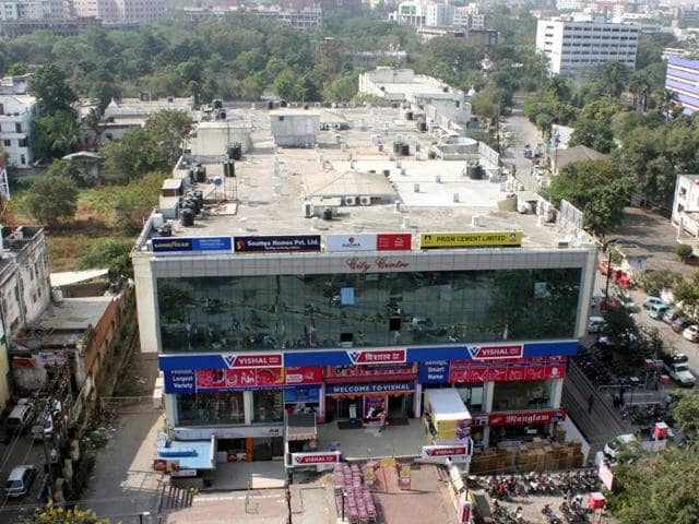 The site where National Herald office was situated in MPNagar in Bhopal in 1990s. Now a shopping mall exists at the site.