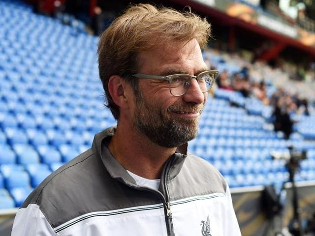 Liverpool's German manager Jurgen Klopp attends a training session of his team.