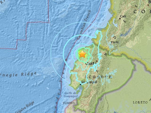 The 6.7-magnitude quake struck 58km south of Esmeraldas at a depth of 10 km.