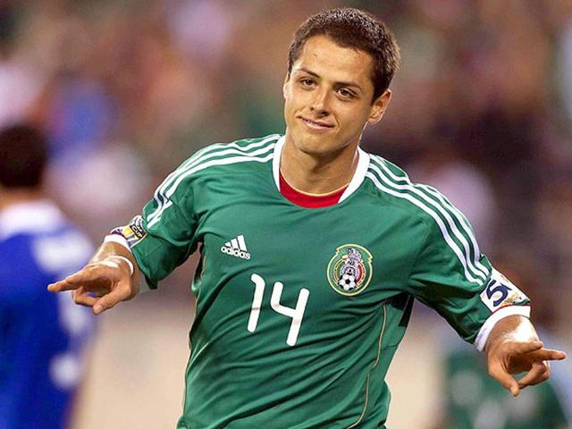 "Bayer Leverkusen forward Javier ""Chicharito"" Hernandez headlines Mexico's 23-man squad."