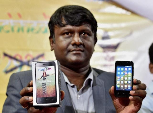 Namotel Acche Din is an Android smartphone that costs Rs 2,999 but is being offered at a much lower price.