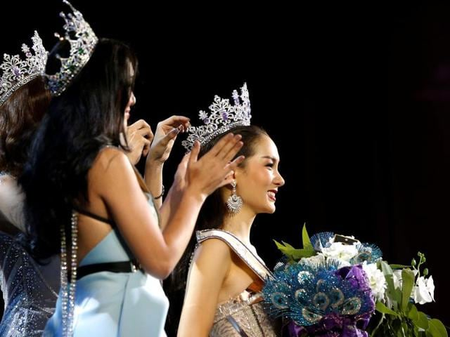 About 100 candidates from across Thailand apply to take part in the pageant each year. (REUTERS)