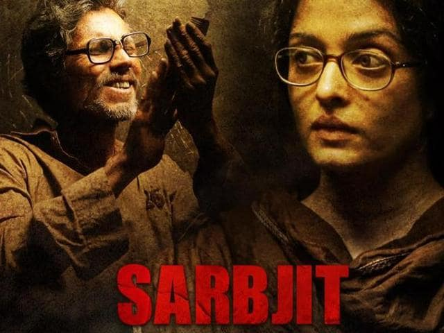 Poster of the Omung Kumar directed movie 'Sarbjit'