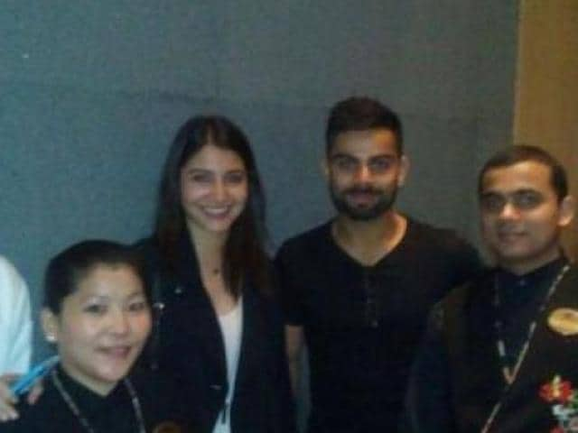 Anushka and Virat reportedly spotted together at a restaurant.