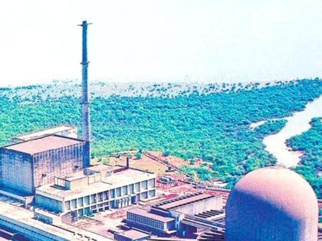 Nuclear research reactors within the premises of the Bhabha Atomic Research Centre, on the outskirts of Mumbai.