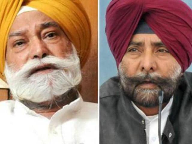 Expelled Congress leaders Jagmeet Singh Brar (right) and Bir Devinder Singh (left)