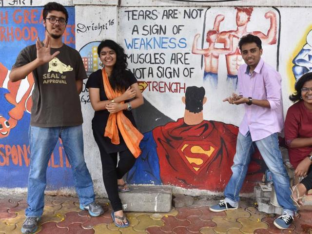 The core team of MAD, from left, Shlomoh Samuel, Raashi Raghunath, Tamim Sangrar and Aditi Monde
