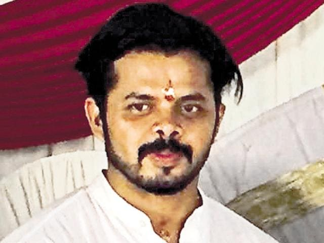 Former cricketer S Sreesanth had recently joined the BJP.(HT Photo)