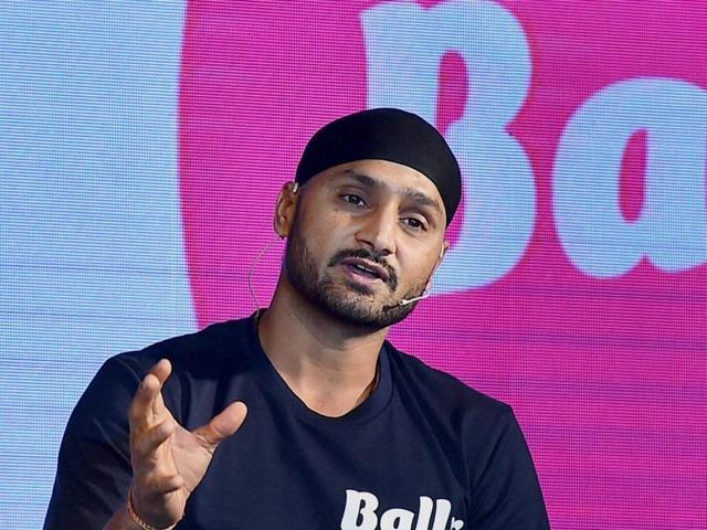 Cricketer Harbhajan Singh speaks during launch of Mobile Sporting Apps, BALLR in New Delhi on Thursday.