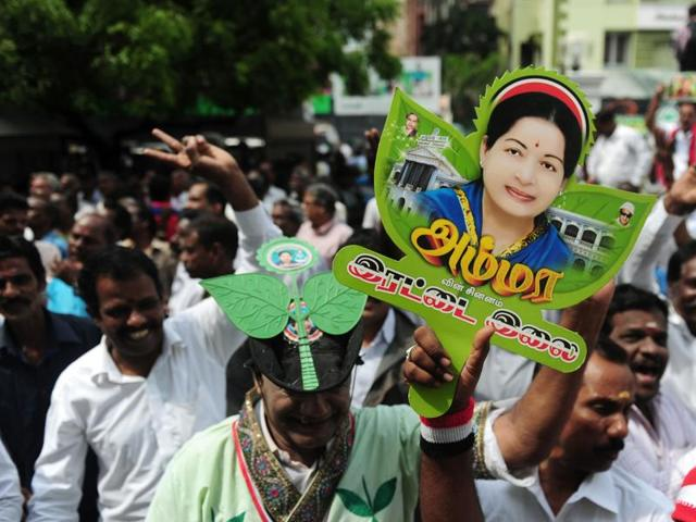 Tamil Nadu chief minister and AIADMK supremo J Jayalalithaa  looks set for another term.