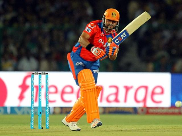 Gujarat Lions' skipper Suresh Raina led from the front at the team's new home ground in Kanpur. The Lions won by six wickets against Knight Riders.