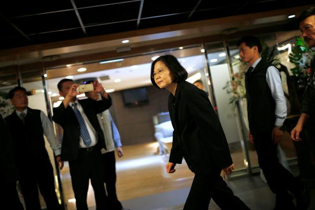 File photo of Taiwan's president-elect Tsai Ing-wen after winning the elections in Taipei on January 15.