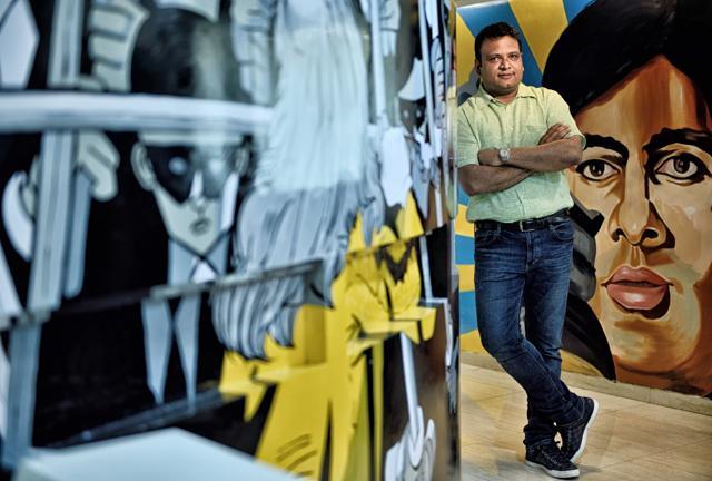 Manish Mundra at the Drishyam Films office in Andheri