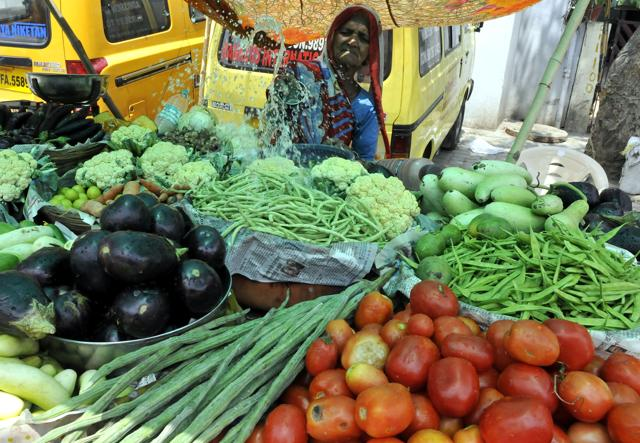 Inflation in vegetables came in at 12.94%, a sharp rise from 2.21%, a month earlier.