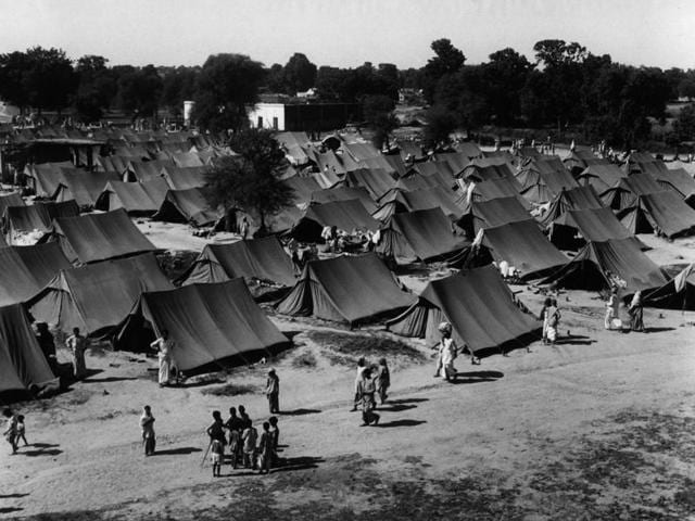 Image result for refugee camps in india 1947 delhi