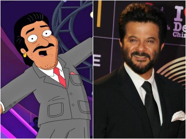 In the image, the character is sporting Anil's famous moustache and an earring in his right ear.