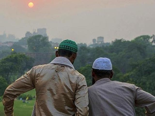 In the Muslim community the average family size fell from 5.61 to 5.15, the report released by the home ministry said.(Abhishek Saha/HT Photo)