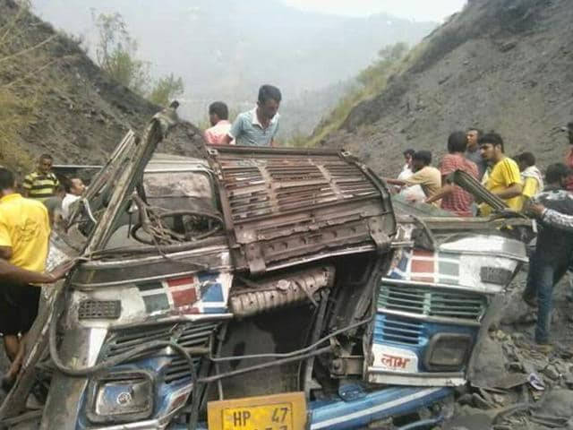 The ill-fated bus was on its way from Sanghni to Banikhet when the incident took place.