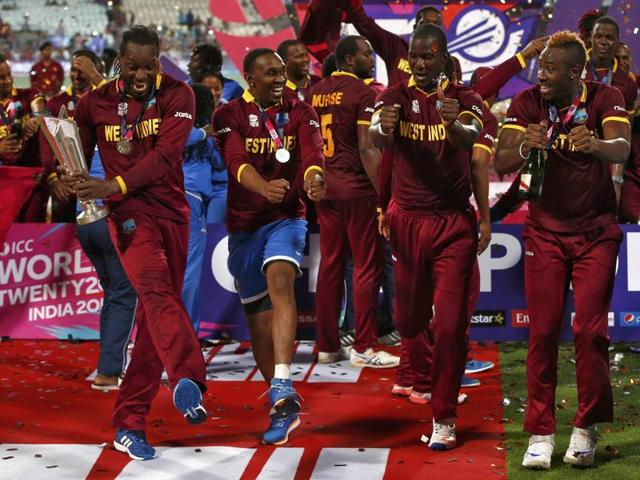 Chris Gayle, Dwayne Bravo, and Darren Sammy -- members of the World T20-winning team, were dropped for West Indies' ODI tri-series with Australia and South Africa.(REUTERS)