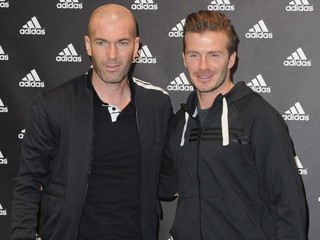 David Beckham played with Zinedine Zidane at Real Madrid from 2003 until 2006 before the French great retired from football.