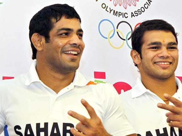 Wrestlers Sushil Kumar and Narsingh Pancham Yadav are locked in a tussle with Sushil calling for trials in the 74kg weight category that Narsingh has a berth for 2016 Rio Olympics.