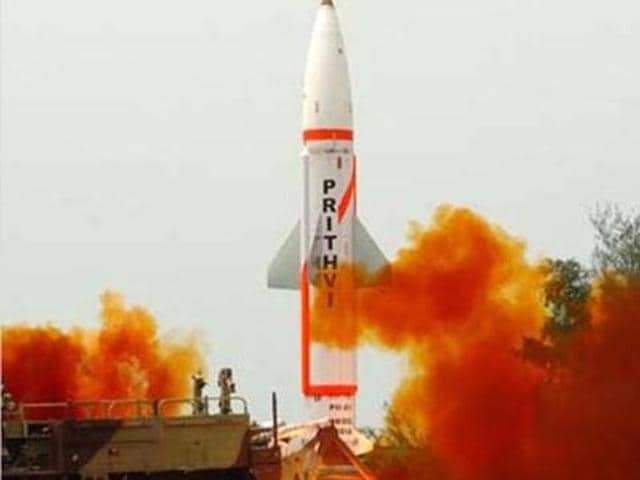 India successful test-fired its nuclear-capable missile Prithvi-II on Thursday. (Picture courtesy: DRDO official website)