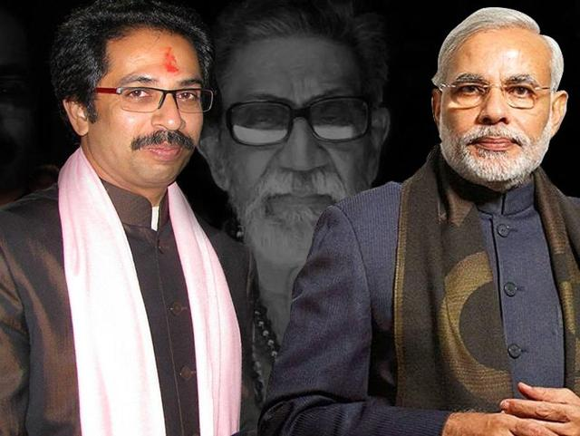 Shiv Sena chief Uddhav Thackeray (left) and Prime Minister Narendra Modi.