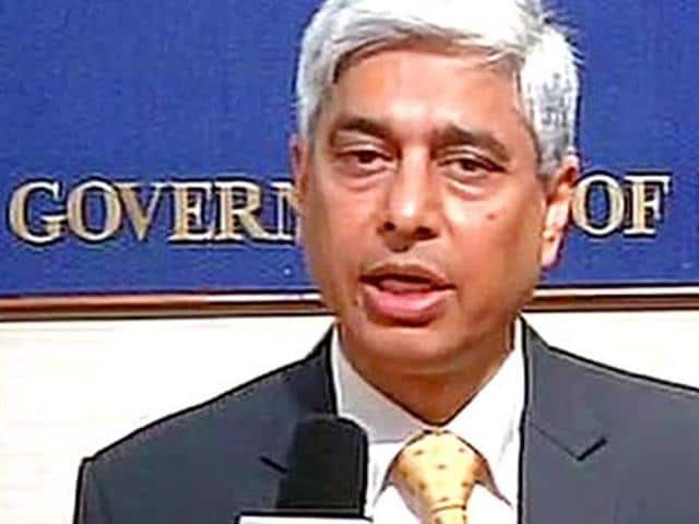 MEA spokesperson Vikas Swarup interacts with journalists during a press conference in Delhi.
