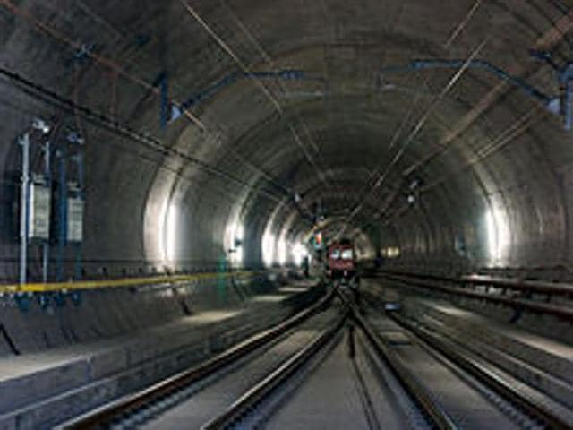 World's logest rail tunnel