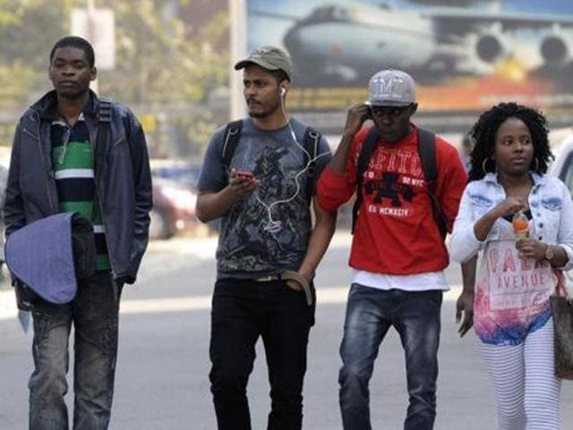 """In the National Capital Region of Noida, on Delhi's outskirts, the most common grouse of African students was being labelled as """"drug peddlers"""" and denial of houses on rent."""