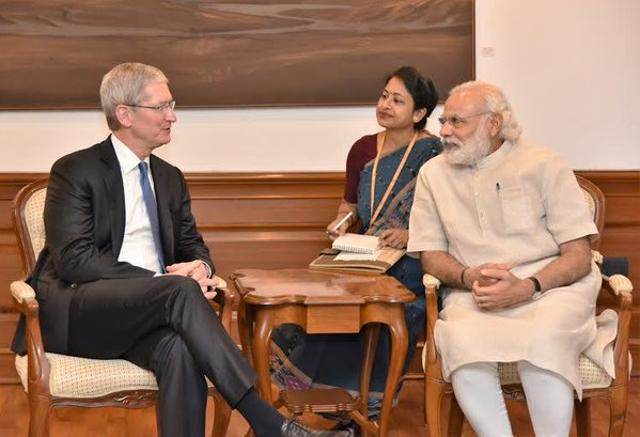 Apple CEO Tim Cook meets PM Narendra Modi