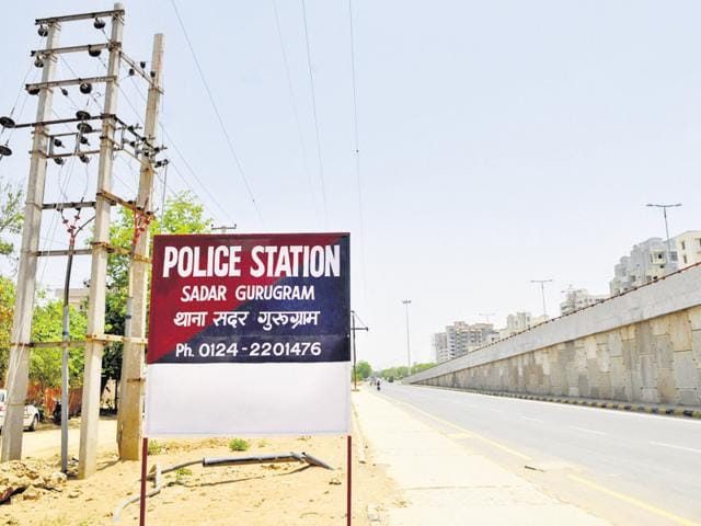 Sadar police station has changed the city name to Gurugram on its board.