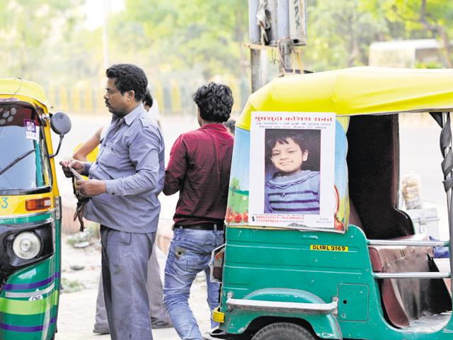 Posters with pictures of Kashish Rawat have been pasted across Noida and also on vehicles.