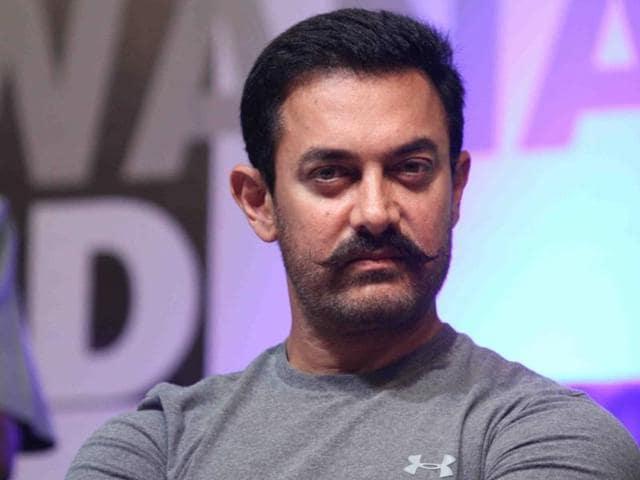 Mumbai: Actor Aamir Khan during Hridaynath Award 2016, in Mumbai, on April 12, 2016.