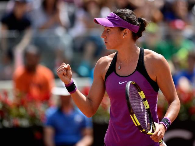 Caroline Garcia claimed her second WTAtitle with the Strasbourg win.