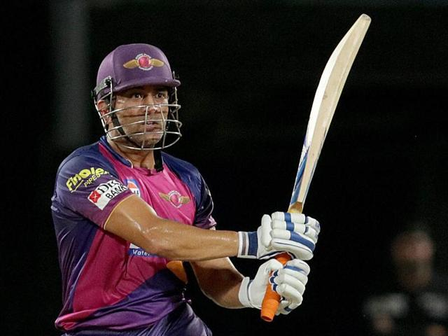 Dhoni hit two sixes off the last two balls to ensure Rising Pune finished their miserable IPL campaign on a winning note, and avoided a last-place finish in the points table.